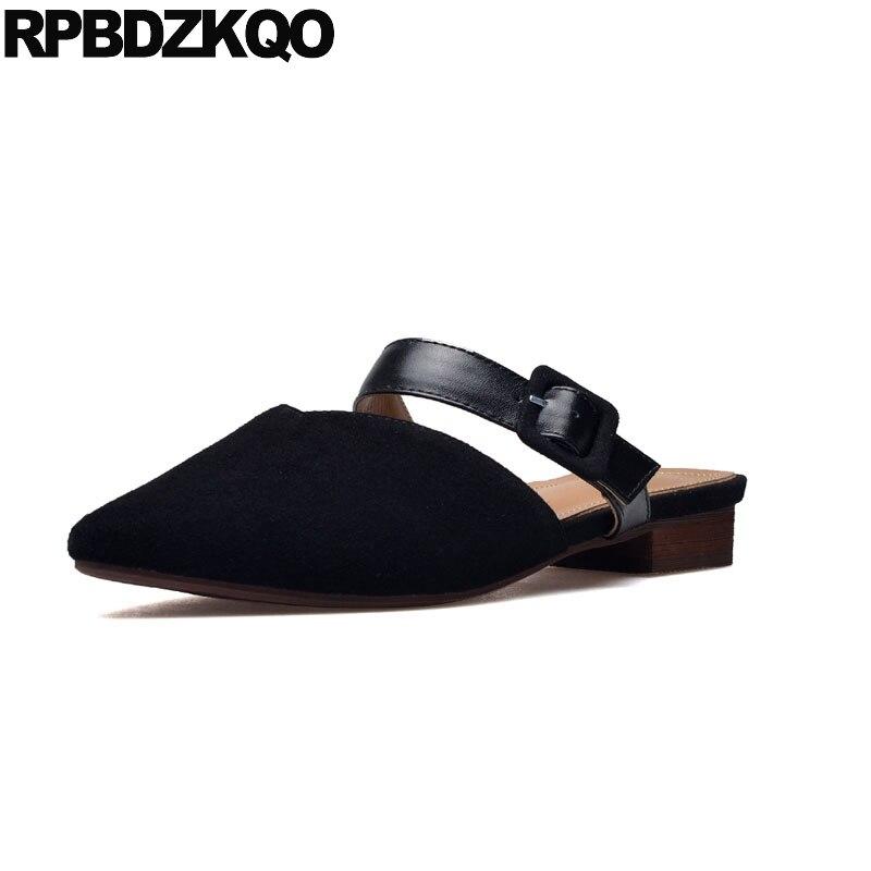 8e31fb1c1152a0 2018 De D'été Sandales Designer Pantoufles coffee Luxe En Automne Pointu  Pink Femme Chinois Noir nude Bout Diapositives Chaussures ...