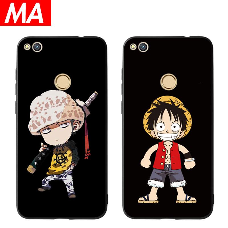 MA The Cartoon Luffy Phone Case For Huawei P8 lite 2017 P9 P10 P20 Lite Plus Nova Honor 6C 6A 6X Honor 8 Honor 9 Mate 10 lite