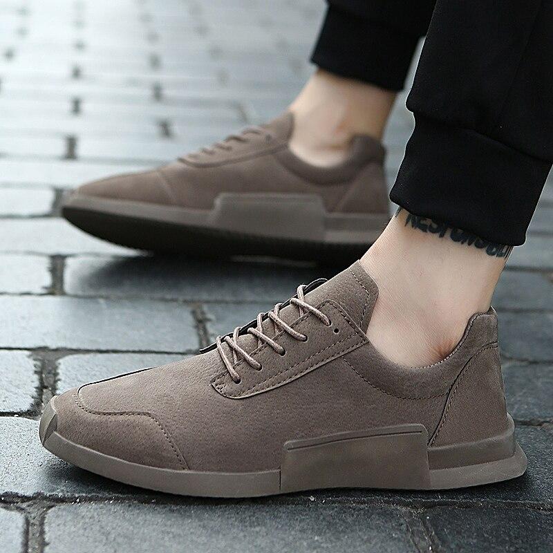 Mode Respirant Printemps automne Nouvelle Arrivée De Casual 2018 En Cuir Hommes blanc kaki Yomior assorties gris Chaussures Pour Mocassins Sneakers Noir 3q5L4ARj