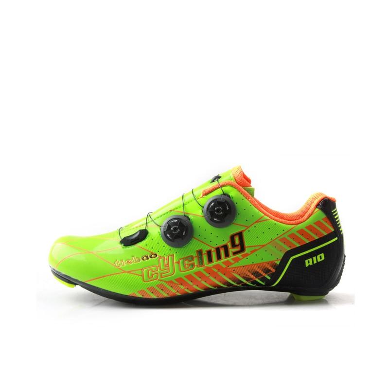 TIEBAO G1680 Route Vélo Chaussures NOUVELLE ARRIVÉE En Plein Air Route Chaussures de Vélo Professionnel En Fiber De Carbone Semelle Chaussures De Vélo De Route