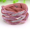 12pcs Wholesale pulseras mujer double cross Bracelets for women handwork braide bracelets with full crystal bracelets & bangles