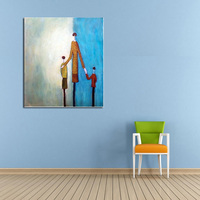 Handpainted Modern Abstract Art For Home Decor High Quality New Home Love Picture on Canvas Oil Paintings Hang Pictures