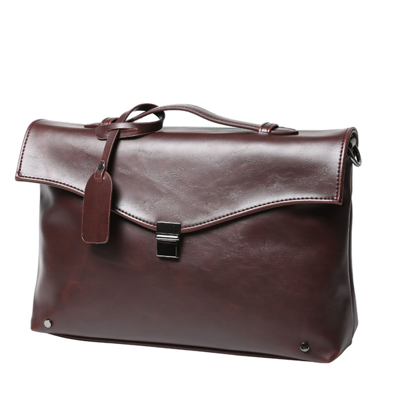 2019 New Fashion Men Briefcase PU Leather Bags Business Brand Male Briefcases Handbags High Quality