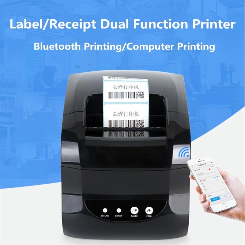 X365 barcode label thermal printer clothing tag price QR code sticker label printer receipt label mini usb bluetooth printer