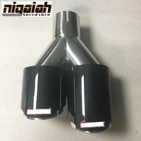 LEFT Side New Universal Carbon Fiber Stainless Steel 3 5 Outlet And 2 5 Inlet Akrapovic