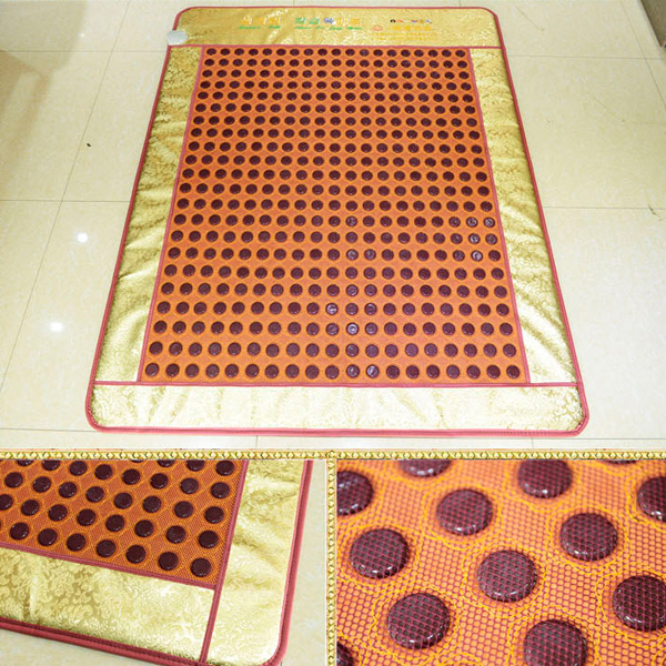 Free Shipping! Natural Jade Mattress Tourmaline Infrared Heating Physical Therapy Mat Home Health Mattress AC220V Size190x120cm health care heating jade cushion natural tourmaline mat physical therapy mat heated jade mattress high quality made in china
