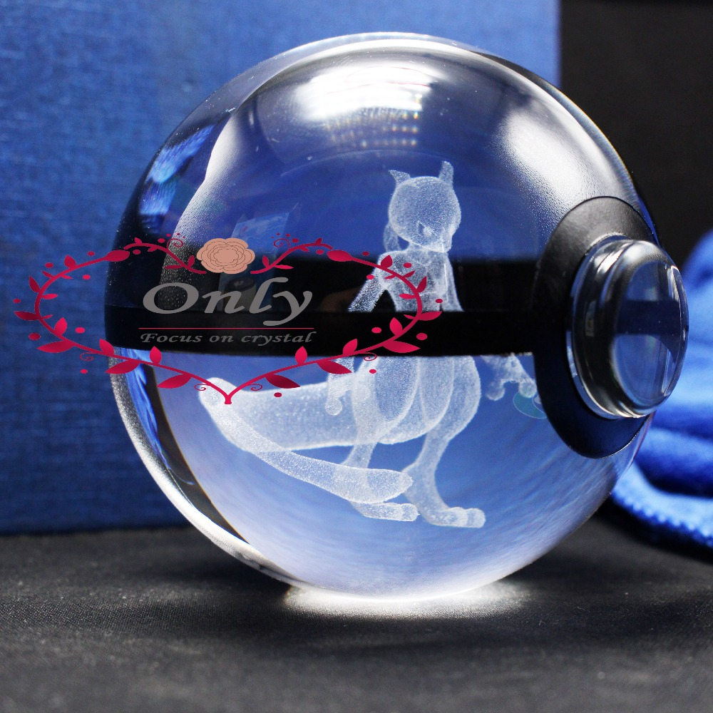 Nice 3D Mewtwo Pokemon Go Crystal Ball for Game Fans Gifts