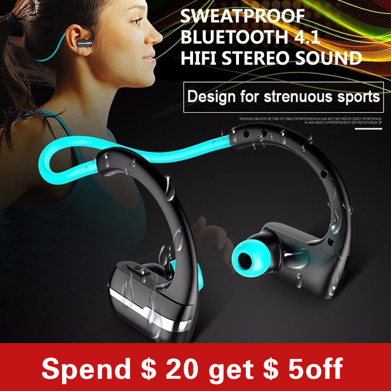 Good Quality Bluetooth Headset Wireless waterproof Sport Headphones music Earphones Fone De Ouvido with Microphone langsdom l5 wireless earphones with mic sport bluetooth headphones bluetooth earphone for xiaomi phone fone de ouvido headset