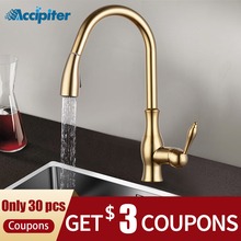Kitchen Faucets Sink Gold Taps Single Handle Pull Out Kitchen Tap Swivel 360 Water Mixer T
