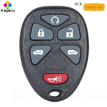 KEYECU 10PCS/Lot Keyless Entry Remote Control Car Key With 6 Button - FOB for Buick Terraza 2005 2006 2007 P/N 15114376 KOBGT04A