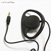 Linhuipad 500Pcs Soft Hook Earphone 1-bud Stereo Earpiece earphones For Tour Guide System ,Metting and Translation