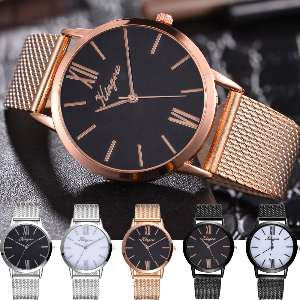 Reloj Mujer Gold And Silver Black Grid Round Women'S Watch Modern Minimalist Fashion Ladies Watch Dress Quartz Watch Fi