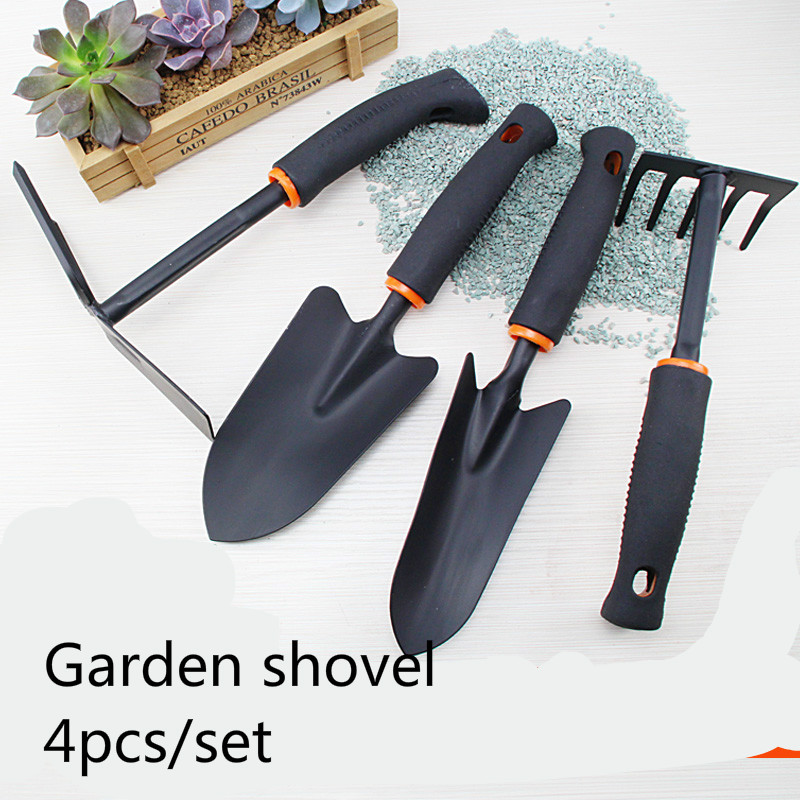 4PCS/SET Gardening tools DIY Mini Garden Shovel dual claw garden hoes home tools  Spade Backacter Flowers Vegetables tool gardening tools potted flowers flower cultivation gadget spades and hoes for gardening vegetables