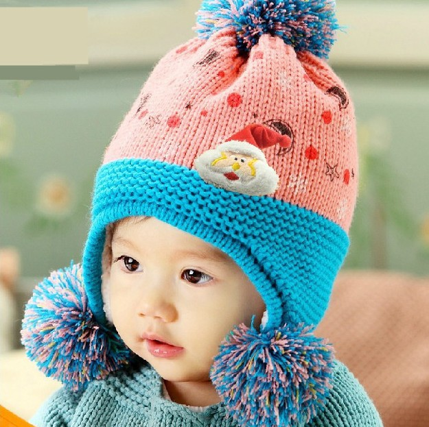 51765cb0b24 Free Shipping New Fashion baby hat Korean Cute Baby hat Lovely Girls boys baby  hat Woolen Knit Beanie Cap baby hat