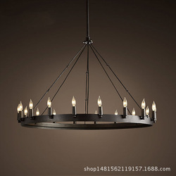 wrought iron industry, the wind pendant Sitting room cafe restaurant bull tungsten filament lamp round table