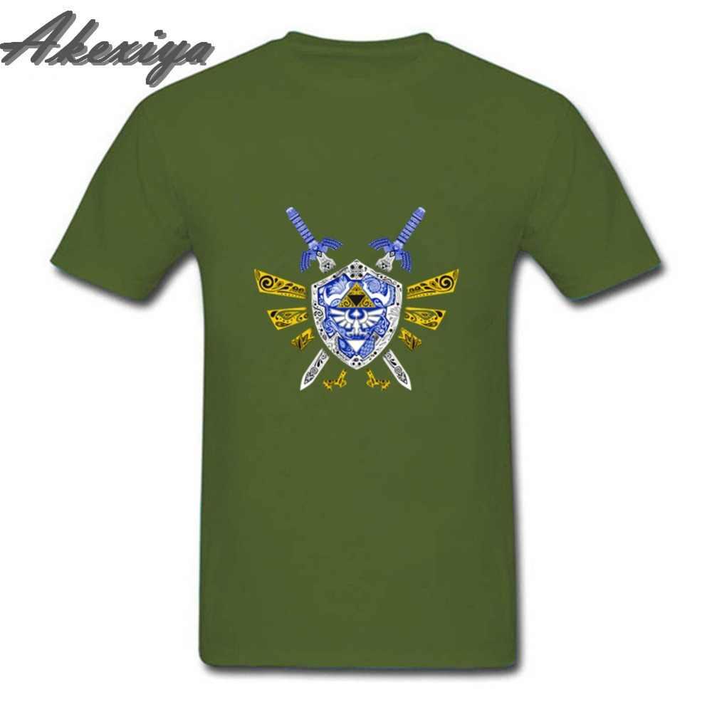 Летняя коллекция 2019 года, модная футболка «Щит легенда о Зельде», Мужская футболка с коротким рукавом из мягкого хлопка, футболка «Джокер», большие размеры, одежда