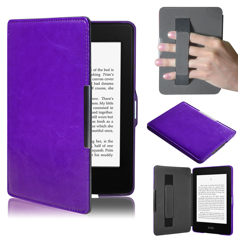 Fashion case for tablet anti-dust kindle paperwhite tablet cover Folding Folio Case Leat ...