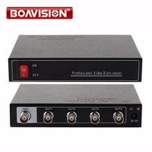 1-4 балла профессиональный видео дистрибьютор/сплиттер, 4CH AHD/CVI/TVI BNC выход, поддержка DC 12 В в, диапазон до 300-600 м