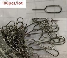 100 قطعة/الوحدة سيم بطاقة صينية إزالة مزيل إخراج دبوس إبرة مفتاح أداة ل samsung فون 7 6 S 6 زائد 5 5 S SE 5C 4 4 S