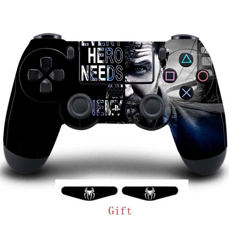 Gra Venom pełna okładka skórka na kontroler naklejki na Playstation 4 Dualshock 4 skórki winylowe naklejki play station 4 Gamepad Protector