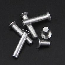 10 шт. M6 GB869 потайной алюминиевая заклепка сплошная заклёпка плоская головка заклепки может занять от 10 до 30 мм(длина