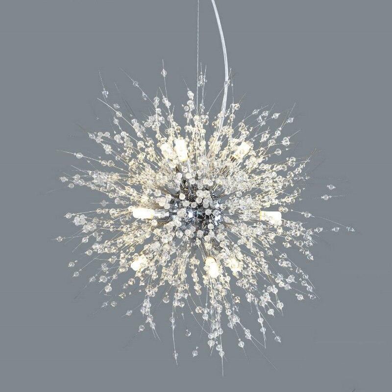 Shinning Stern Modern Dandelion K9 Kristall Kronleuchter Mit Led Lampen Dekoration Beleuchtung Wohnzimmer Schlafzimmer Leuchte