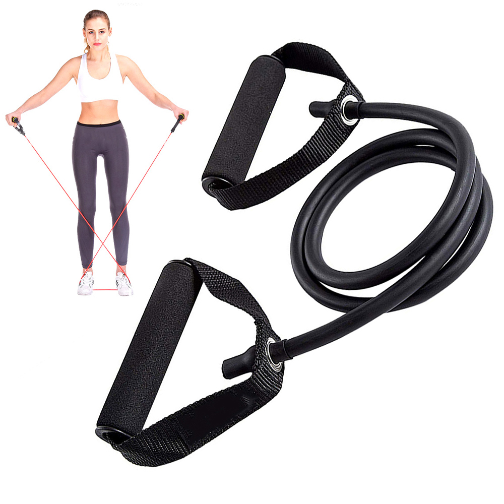 Yoga Pull Rope Fitness Exercises Resistance Bands With Handles Home Gym Strength Training Tubes Workout Bands For Shoulder Arm