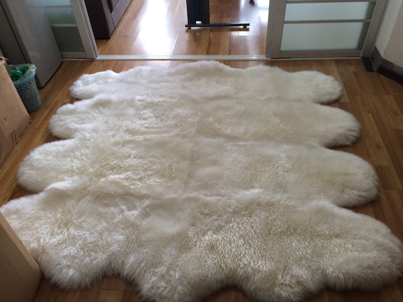 Free Shipping Genuine Sheepskin Sofa Bed Rug 185 200cm 8p Nature Sheep Fur Skin Lambskin On Aliexpress Alibaba Group