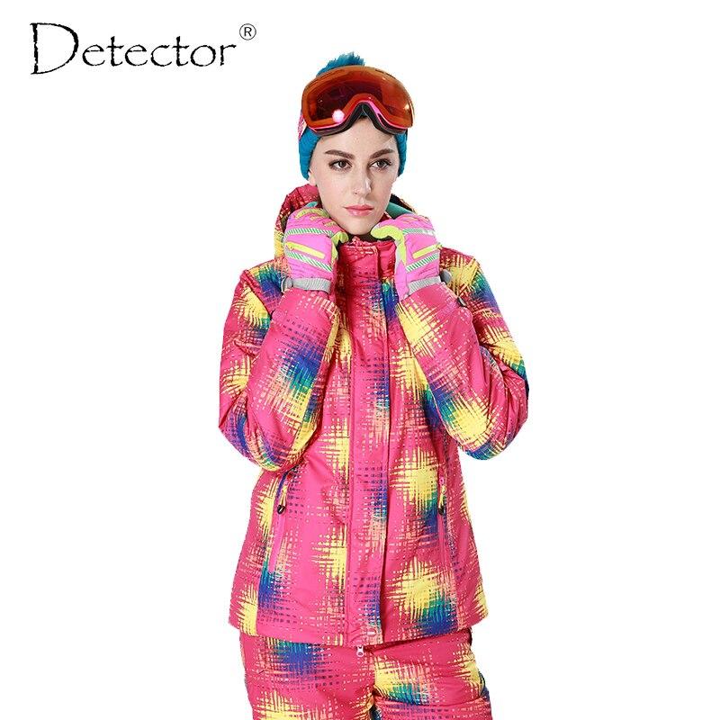 Detecteur femme Ski neige veste Snowboard hiver imperméable coupe vent manteau chaud veste de Ski femme
