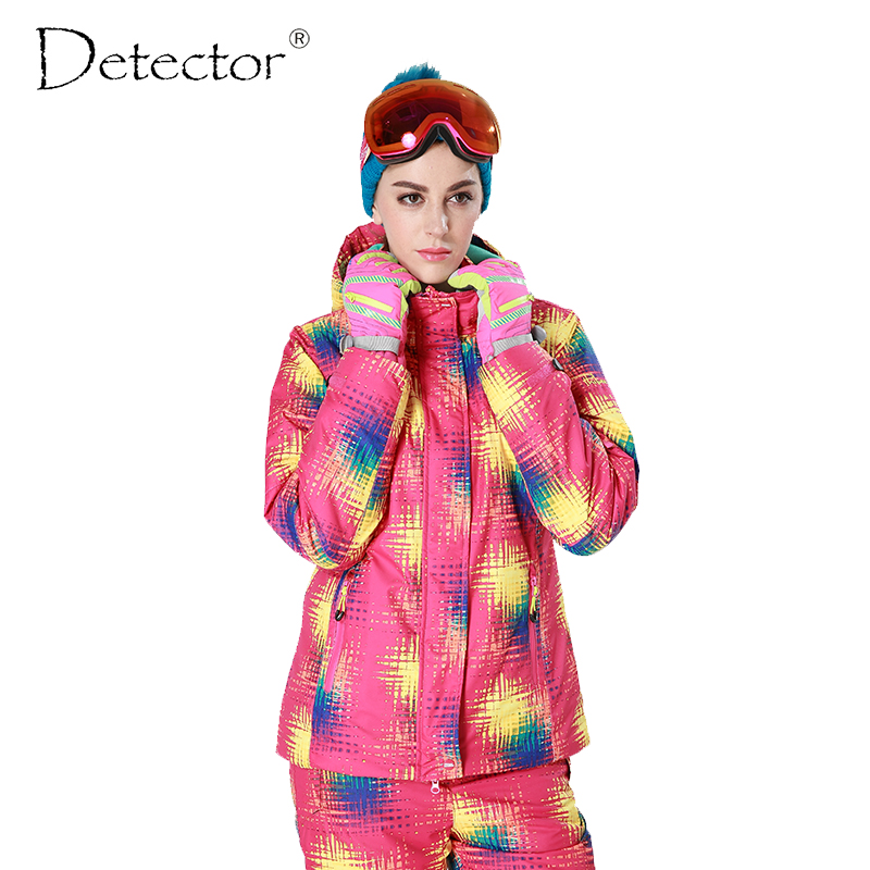 Detector Women Ski Snow Jacket Snowboard Winter Waterproof Windproof Coat Warm Ski Jacket Women