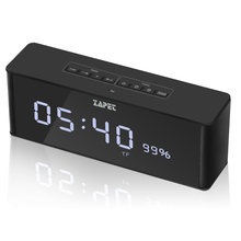 Portable Wireless Bluetooth Speaker with LED Time Display