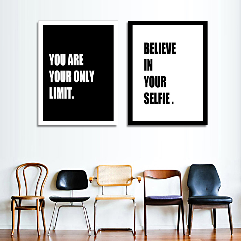 Modern Inspirational <font><b>words</b></font> Poster Print <font><b>Picture</b></font> Canvas Painting Wall Art Design Home Decor Wall <font><b>Pictures</b></font> On Canvas Paintings Art