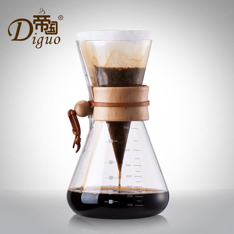 Hot Coffee Maker Pot Coffee Drip 700MLHot Coffee Maker Pot Coffee Drip 700ML