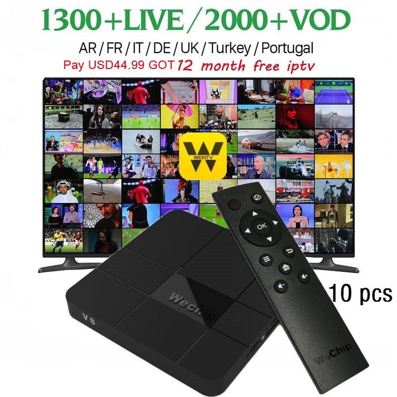 10PCS/LOT WeChip V8 4k android tv box 1G+8G/2G+16G S905W Quad-Core 7.1 OS HD Media Player pk x96 mini set top box 2017 Newest wechip v8 plus google voice control tv box 4k tv box android 7 1 amlogic s905w set top box 4k media player pk tx3mini x96mini