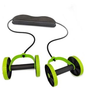 Image 2 - AB 바퀴 롤러 스트레치 탄성 복부 저항 끌어 오기 로프 도구 AB 롤러 복부 근육 트레이너 운동