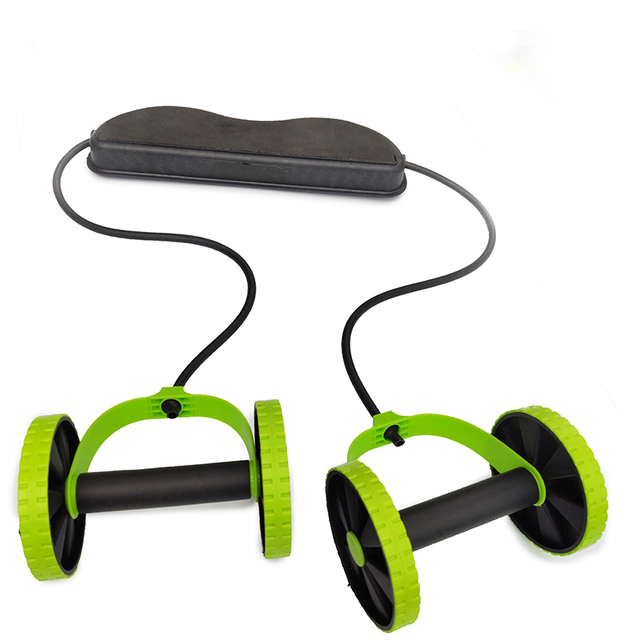 AB Wheels Roller Stretch Elastic Abdominal Resistance Pull Rope Tool AB roller for Abdominal muscle trainer