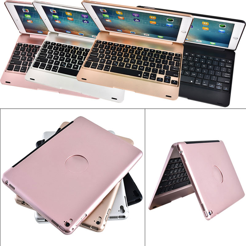 ФОТО New A Ultra Slim Portable Wireless Bluetooth 3.0 Keyboard + Case Cover Holder For iPad Air2/ Pro 9.7inch  EM88