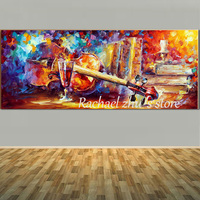 Hand Painted Still Life Red Wine Canvas Painting Wall Art Pictures Palette Knife Oil Painting On Canvas Living Room Wall Decor