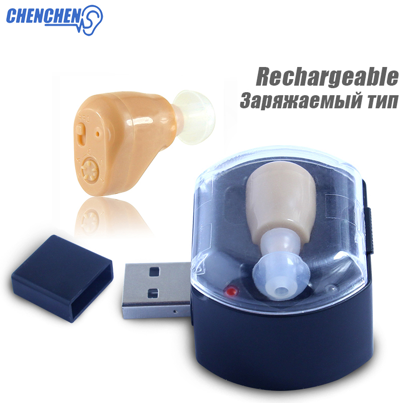 New Rechargeable Hearing Aid Mini Device Ear Sound Amplifier Digital In Ear Hearing Aids for Hearing Loss Elderly Deaf Ear Care 2pcs rechargeable digital hearing aids s 51 mini device ear amplifier invisible the ear deaf aid wholesale price