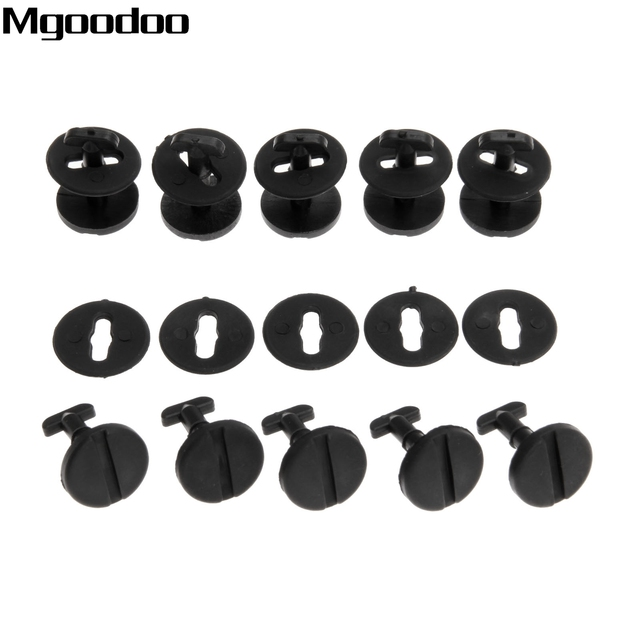 10Pc Floor Carpet Mat Clips (Twist Lock With Washers) For BMW E36 E46 3 Series E38 E39 5 & 7 Series Automobile Replace Fasteners