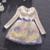 O Vestido da menina Meninas Vestido Outono Peter Pan Colarinho Crianças Vestidos para Meninas Roupas Flores Meninas Bordado Vestido de Roupa Dos Miúdos 3-9 T