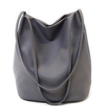 2017 Designer Frauen Handtaschen Aus Leder Schwarz Eimer Umhängetaschen Damen Crossbody Taschen Große Kapazität Damen Einkaufstasche QT2001