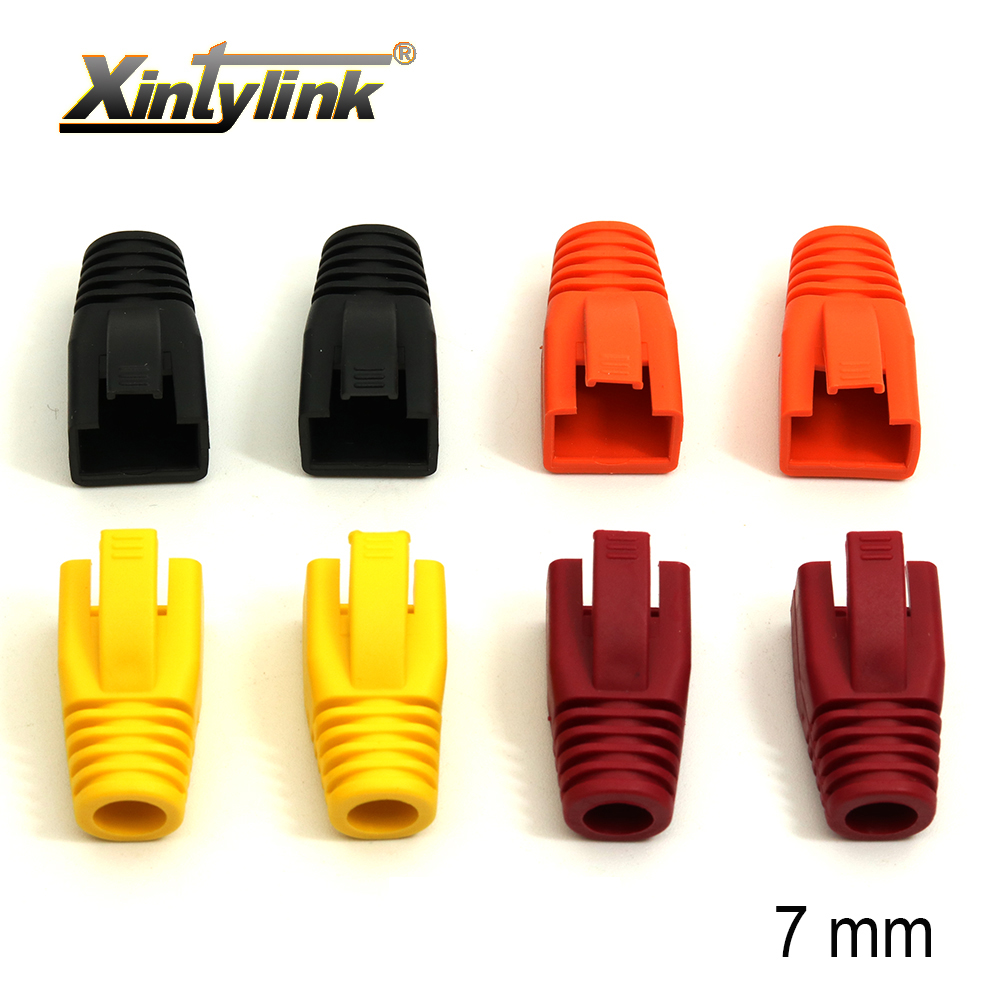 Xintylink Rj45 Caps Cat6 Network Boots Rj 45 Sheath Cat6a Cat5 Cat5e Protective Sleeve Multicolour Ethernet Cable Connector