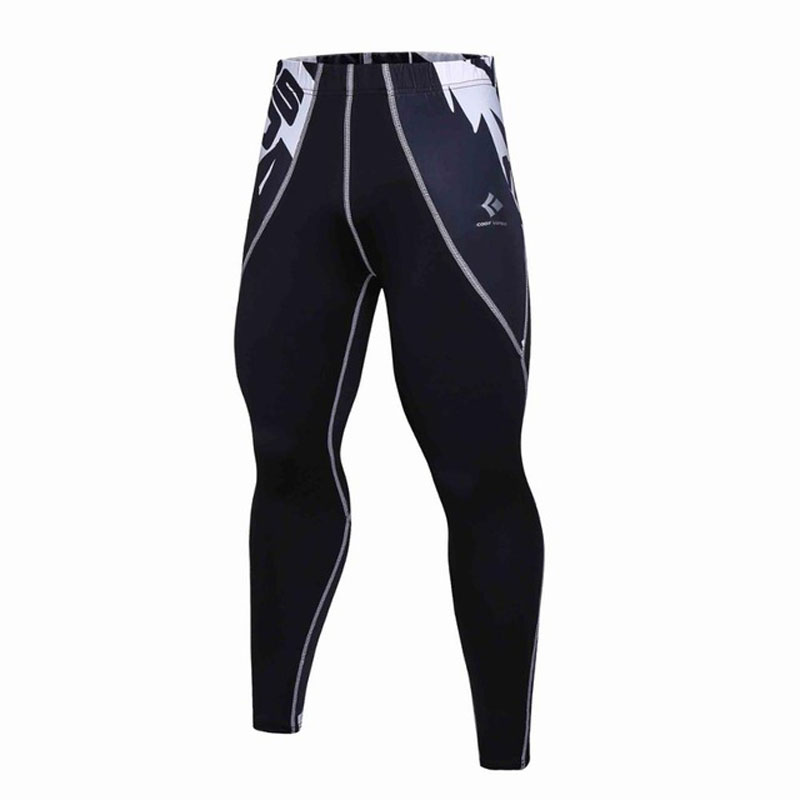 Mens Compression Pants Compression Leggings Fitness Pants MMA Crossfit Weight Lifting Bodybuilding Skin Tights Trousers