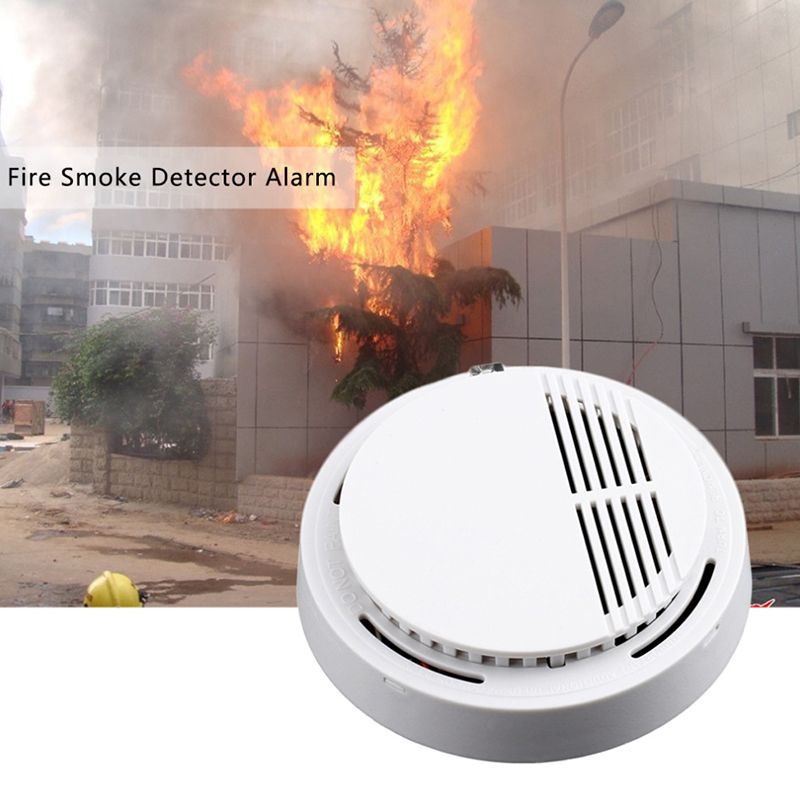 Smoke detector fire alarm detector Independent smoke alarm sensor for home office Security photoelectric smoke alarm high quality 10 years battery life stand alone fire alarm smoke alarm independent photoelectric smoke detector