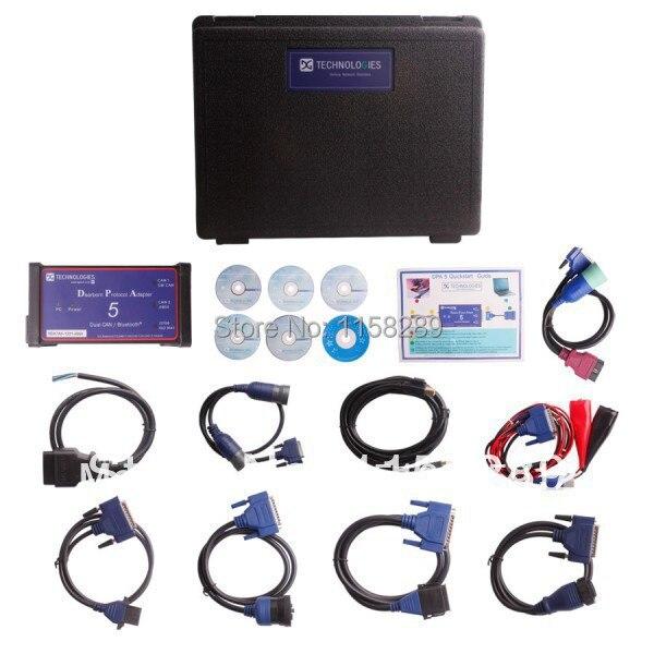 Цена за EMS/DHL Бесплатная Доставка DPA5 DPA 5 Дирборн Portocol Адаптер 5 С Bluetooth Версии Грузовик диагностические инструменты Заводская Цена