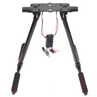 Carbon Fiber Electric Retractable Landing Gear Skid S500 F650 F680 Tarot 650 680 Pro FPV