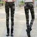 Camuflagem calças mulheres Skinny calças lápis de Jeans de cintura Femme Loe cintura mulheres Jeans calça Feminina pantalon Femme
