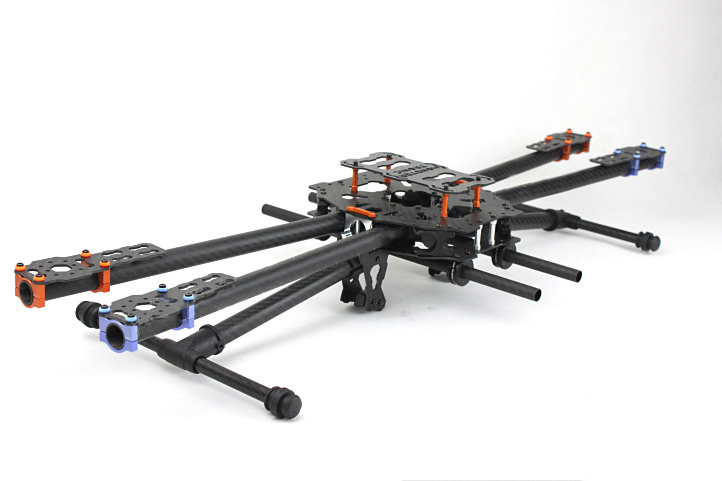 лучшая цена Tarot Carbon metal folding QUAD copter main frame set Iron man 650 Carbon landing skids TL65B01