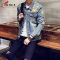 Chaqueta de Mezclilla de los hombres de Alta Calidad Jeans de Moda Chaquetas Casuales Metrosexual Vintage Para Hombre Jean Streetwear Ropa Más El Tamaño S-5XL